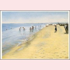 Summer day at the south beach of Skagen