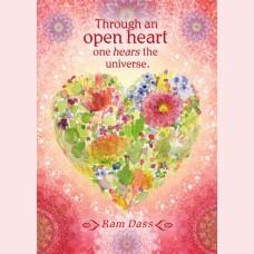 Through an open hart......