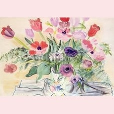 Anemones and tulips