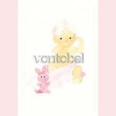 Rosa Kaninchen und Baby