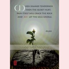 When inward tenderness finds the secret hurt, pain itself will crack the rock and ah! Let the soul emerge.