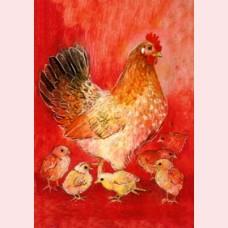 Weet je wat de dieren zeggen 3 - Kip met kuikens
