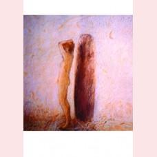 Vrouw bij menhir