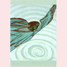 De engel brengt het water in beroering